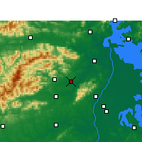 Nearby Forecast Locations - Anyi - Mapa