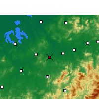 Nearby Forecast Locations - Yujiang - Mapa