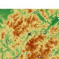 Nearby Forecast Locations - Longquan - Mapa