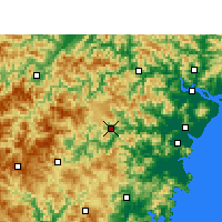 Nearby Forecast Locations - Wencheng - Mapa