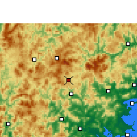 Nearby Forecast Locations - Dehua - Mapa