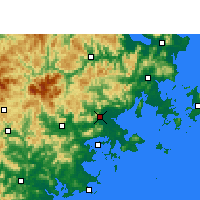 Nearby Forecast Locations - Putian - Mapa