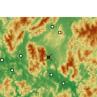 Nearby Forecast Locations - Fuchuan - Mapa