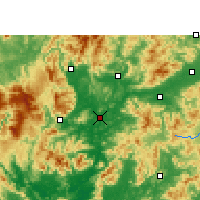 Nearby Forecast Locations - Shaoguan - Mapa