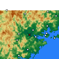Nearby Forecast Locations - Zhangzhou - Mapa