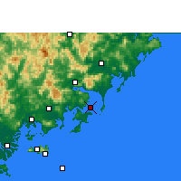 Nearby Forecast Locations - Dongshan - Mapa