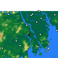Nearby Forecast Locations - Xinhui - Mapa