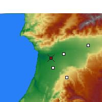 Nearby Forecast Locations - Agadir - Mapa