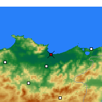 Nearby Forecast Locations - Annaba - Mapa