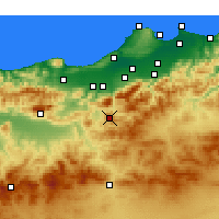 Nearby Forecast Locations - Médéa - Mapa
