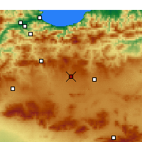 Nearby Forecast Locations - Setif - Mapa