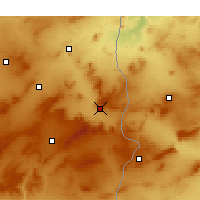 Nearby Forecast Locations - Tébessa - Mapa