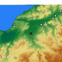 Nearby Forecast Locations - Relizane - Mapa