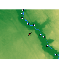 Nearby Forecast Locations - Assiut - Mapa