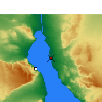 Nearby Forecast Locations - Ras Sedr - Mapa