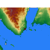 Nearby Forecast Locations - Sharm el-Sheikh - Mapa