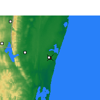 Nearby Forecast Locations - Mbazwana - Mapa