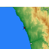Nearby Forecast Locations - Port Nolloth - Mapa