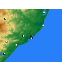 Nearby Forecast Locations - Richards Bay - Mapa