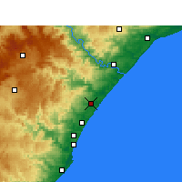 Nearby Forecast Locations - Shakaskraal - Mapa