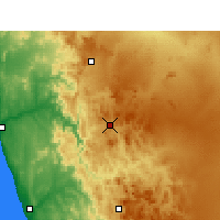 Nearby Forecast Locations - Springbok - Mapa
