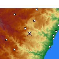 Nearby Forecast Locations - Pietermaritzburg - Mapa