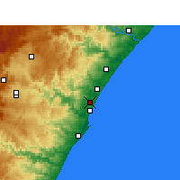 Nearby Forecast Locations - Mount Edgecombe - Mapa