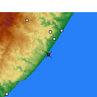 Nearby Forecast Locations - Port Edward - Mapa