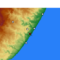 Nearby Forecast Locations - Margate - Mapa