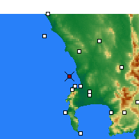 Nearby Forecast Locations - Ilha Robben - Mapa