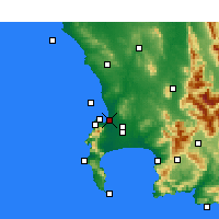 Nearby Forecast Locations - Milnerton - Mapa