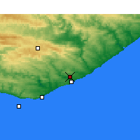 Nearby Forecast Locations - Port Alfred - Mapa