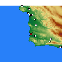 Nearby Forecast Locations - Lompoc AFB - Mapa