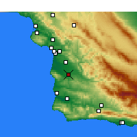 Nearby Forecast Locations - Santa Maria - Mapa