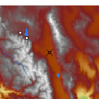 Nearby Forecast Locations - Bishop - Mapa