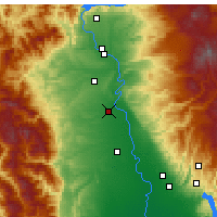 Nearby Forecast Locations - Red Bluff - Mapa