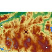Nearby Forecast Locations - Santa Rosa de Copán - Mapa