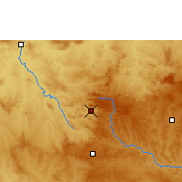Nearby Forecast Locations - Pirenópolis - Mapa