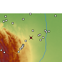 Nearby Forecast Locations - Santa Cruz de la Sierra - Mapa