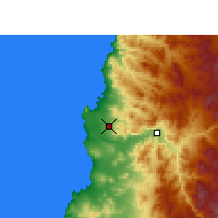 Nearby Forecast Locations - Desierto de Atacama Airport - Mapa