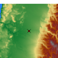 Nearby Forecast Locations - Chillán - Mapa