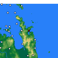 Nearby Forecast Locations - Whitianga - Mapa