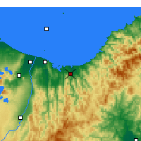 Nearby Forecast Locations - Opotiki - Mapa
