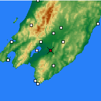 Nearby Forecast Locations - Martinborough - Mapa