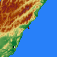 Nearby Forecast Locations - Kaikoura - Mapa