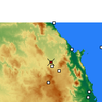 Nearby Forecast Locations - Mareeba - Mapa
