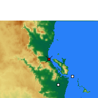 Nearby Forecast Locations - Cardwell - Mapa