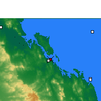 Nearby Forecast Locations - Gladstone - Mapa
