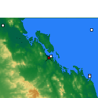 Nearby Forecast Locations - Gladstone Airport - Mapa
