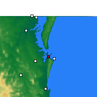 Nearby Forecast Locations - Rainbow Beach - Mapa